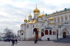Catedral do aviso no Kremlin de Moscou Imagem de Stock Royalty Free