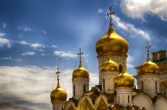 A catedral do aviso no Kremlin, Moscovo, Rússia Fotos de Stock