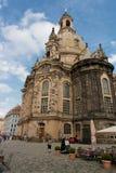 Catedral do baroque de Dresden imagens de stock royalty free