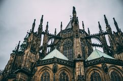 Catedral do castelo de Praga fotos de stock