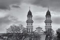 Catedral do católico grego, Uzhgorod, Ucrânia Foto de Stock Royalty Free