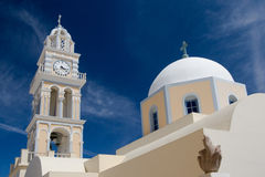 Catedral do Catholic de Santorini Fotografia de Stock Royalty Free
