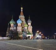 A catedral do de Vasily abençoado Fotos de Stock Royalty Free