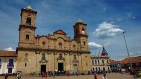 Catedral do diocesano da vista de Zipaquira É dedicado ao apoio da trindade santamente e do St Anthony de Pauda fotografia de stock royalty free