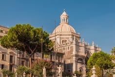 Catedral do domo de Santa Agatha ou de Catania em Catania Foto de Stock