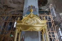 A catedral do esmagamento do século XIX em Uglich, Rússia Fotos de Stock Royalty Free