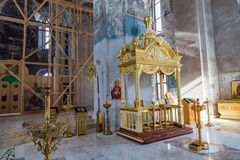 A catedral do esmagamento do século XIX em Uglich, Rússia Imagem de Stock