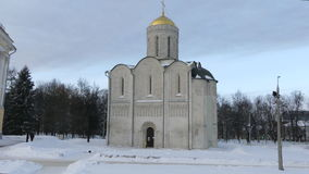 Catedral do inverno de Saint Demetrius video estoque