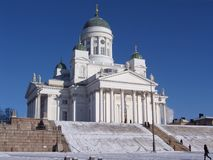Catedral do Lutheran de Helsínquia imagens de stock
