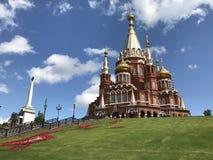 Catedral do Michael-arcanjo em Izhevsk, Rússia fotografia de stock