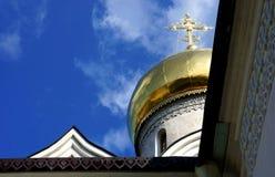 A catedral do monastério de Savvino-Storozhevsky em Zvenigorod Fotos de Stock Royalty Free