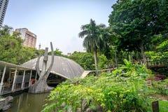 Catedral do parque do cinturão verde o 4 de setembro de 2017 na cidade de Makati, Phili Fotografia de Stock Royalty Free