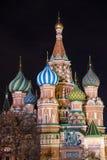 Catedral do ` s da manjericão de Saint em Moscou, Rússia fotos de stock royalty free
