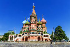 Catedral do ` s da manjericão do St em Moscou foto de stock royalty free