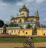 Catedral do ` s de St George em Lviv Fotos de Stock Royalty Free