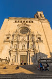 A catedral do ` s de St Mary em Gerona, Espanha Foto de Stock