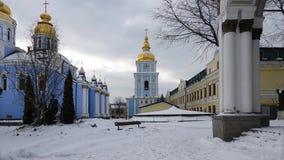 Catedral do ` s de St Michael e torre de sino Dourado-abobadadas em Kiev fotografia de stock royalty free