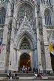 Catedral do ` s de St Patrick em New York fotos de stock