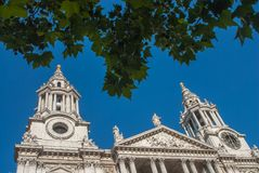 Catedral do ` s de St Paul, Londres, Inglaterra Imagem de Stock