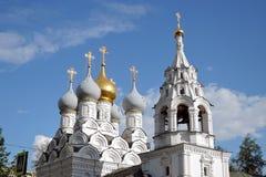 Catedral do Saint Nicolas na rua de Bolshaya Ordynka em Moscou Marco popular Fotos de Stock