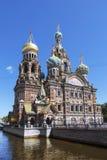 A catedral do sangue derramado em St Petersburg Imagens de Stock Royalty Free