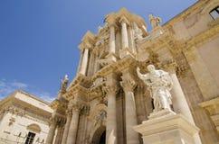 Catedral do siracusa, Sicília Fotos de Stock