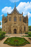 Catedral do St Barbara em Kutna Hora, república checa Uma das igrejas góticos as mais famosas em Europa, local do patrimônio mund Fotografia de Stock Royalty Free