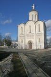 A catedral do St Demetrius que foi construída no 13o centure, é famosa para seu exterior masterfully cinzelado Vladimir, Rússia Imagens de Stock Royalty Free