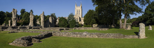 Catedral do St Edmunds Abbey Remains e do St Edmundsbury do enterro Fotos de Stock
