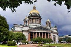 Catedral do St. Isaac, St Petersburg, Rússia. Fotografia de Stock