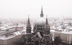 Catedral do St. Maria coved pela neve Fotos de Stock Royalty Free
