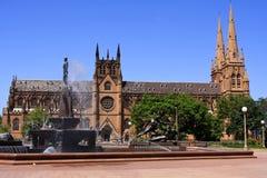 Catedral do St Mary, Sydney, Austrália. fotos de stock royalty free