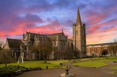 Catedral do St Patrick em Dublin, Ireland fotos de stock