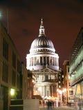 Catedral do St Paul na noite fotografia de stock