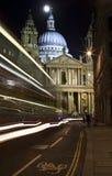 Catedral do St. Paul na noite Imagem de Stock