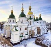 Catedral do St Sophia em Kiev no inverno Imagens de Stock