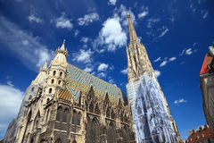 Catedral do St. Stephan em Viena, Áustria foto de stock