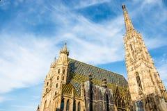 Catedral do St Stephan em Viena, Áustria imagem de stock