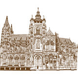 Catedral do St. Vitus Fotos de Stock Royalty Free
