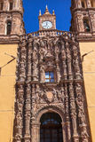 Catedral Dolores Hidalalgo Mexico de Parroquia das estátuas da fachada Fotografia de Stock