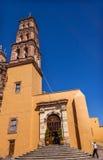 Catedral Dolores Hidalgo Mexico de Parroquia de la torre del campanero de Bell Imagenes de archivo