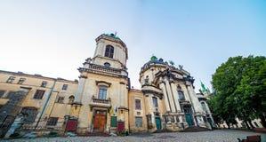 Catedral dominiquense em Lviv Ucrânia Imagens de Stock Royalty Free