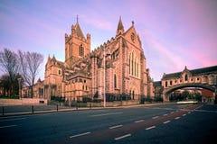 Catedral Dublin Ireland de la iglesia de Cristo Imagen de archivo