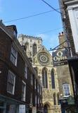 Catedral e construções em York, Inglaterra Fotografia de Stock Royalty Free
