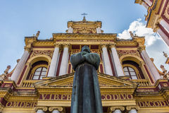 Catedral e estátua de San Francisco Imagens de Stock