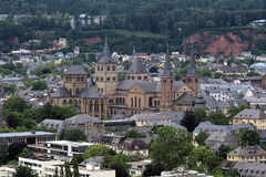 Catedral e iglesia de nuestra señora, Alemania del Trier Imagen de archivo libre de regalías
