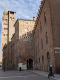 Catedral e Torrazzo, Cremona fotos de stock
