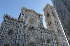 A catedral e a torre de Florença, Itália Fotos de Stock Royalty Free