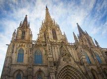 Catedral em Barcelona Fotografia de Stock