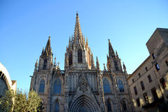 Catedral em Barcelona, Spain Foto de Stock Royalty Free